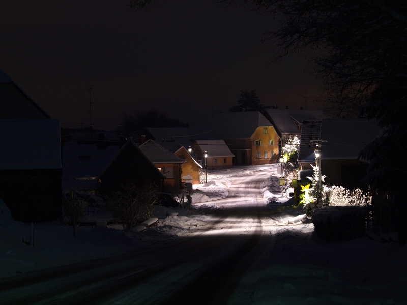 Weiterswiller sous la neige
