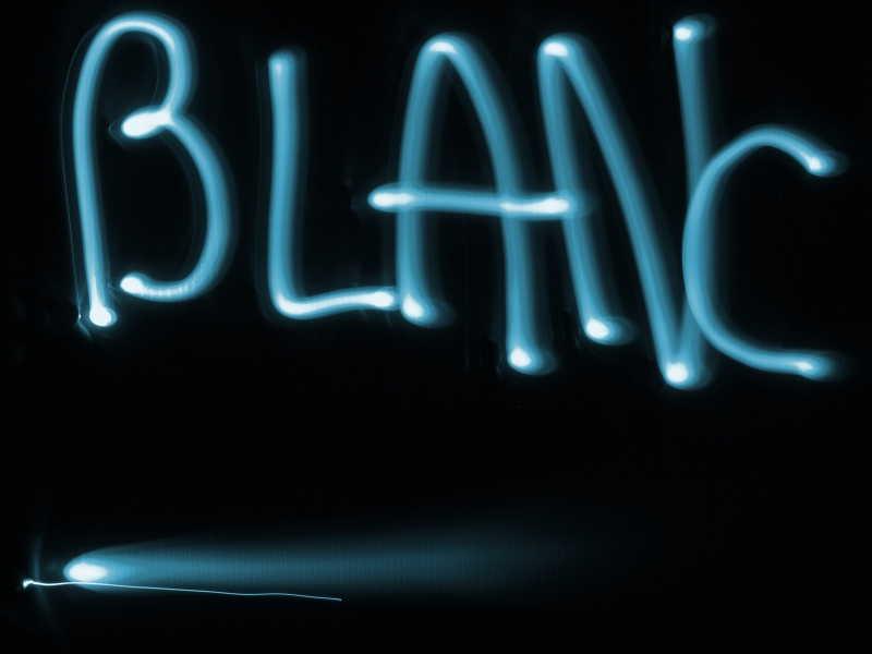Lightpainting : BLANC