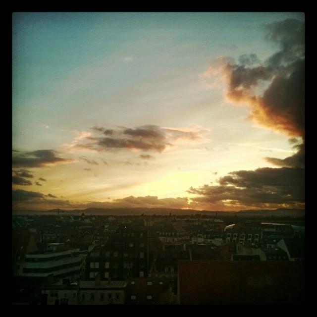 [Instagram] Couché de soleil #strasbourg