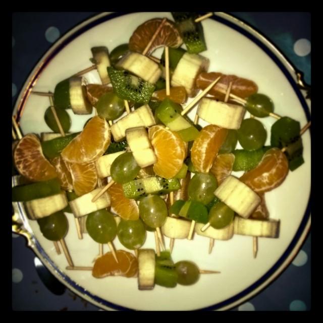 [Instagram] Dessert du soir. Après la raclette. Bonne idée merci Julie et richard. #miam