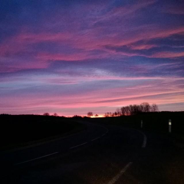 [Instagram] Le magnifique ciel de ce matin.