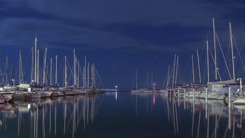 Port Camargue sous la pleine lune