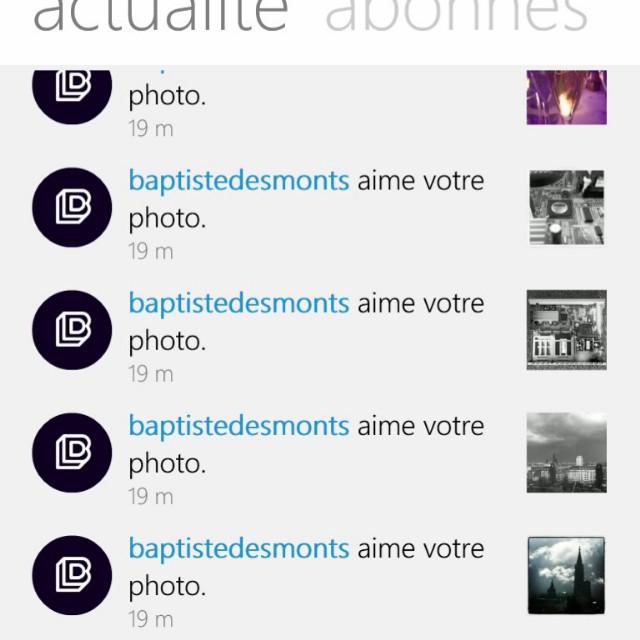 [Instagram] Merci @baptistedesmonts :-)
