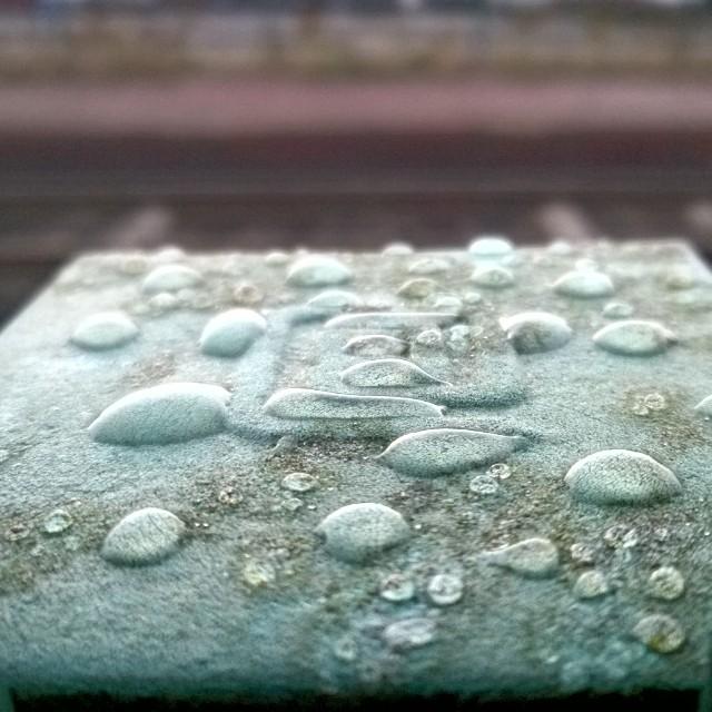 [Instagram] Quelques goute d'eau sur un poteau #enattendantletrain #alsace