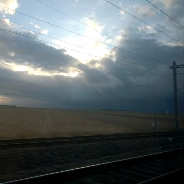 [Instagram] Amis Alsaciens, la pluie arrive, je l'ai croisée au retour.
