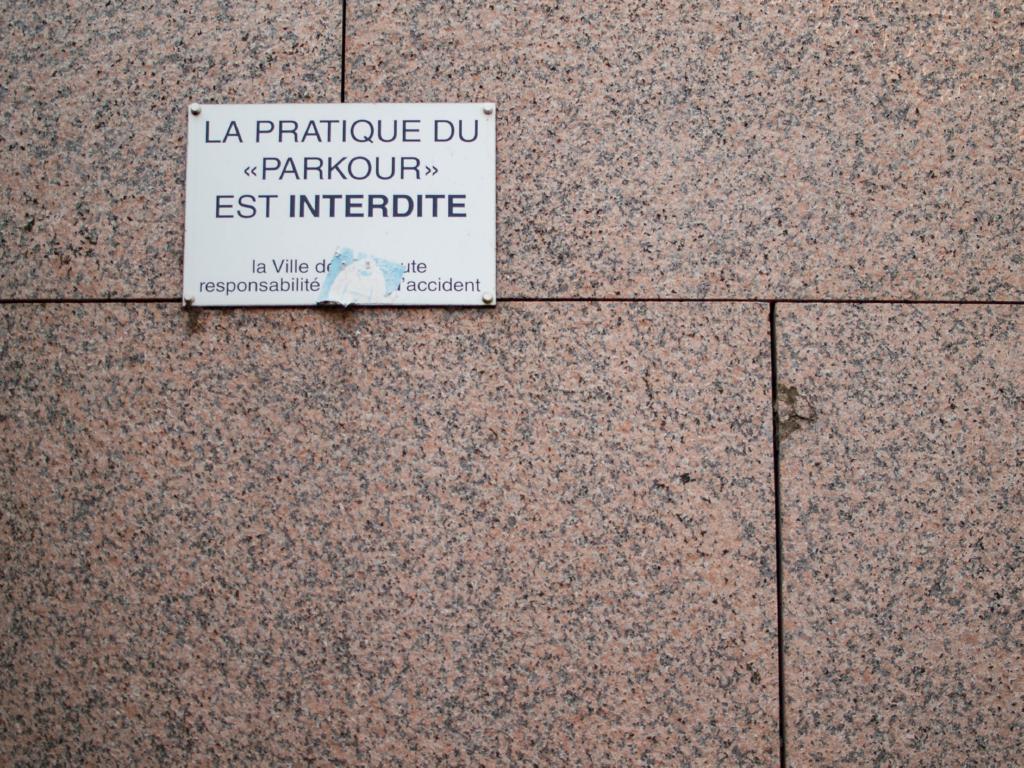 Parkour Interdit