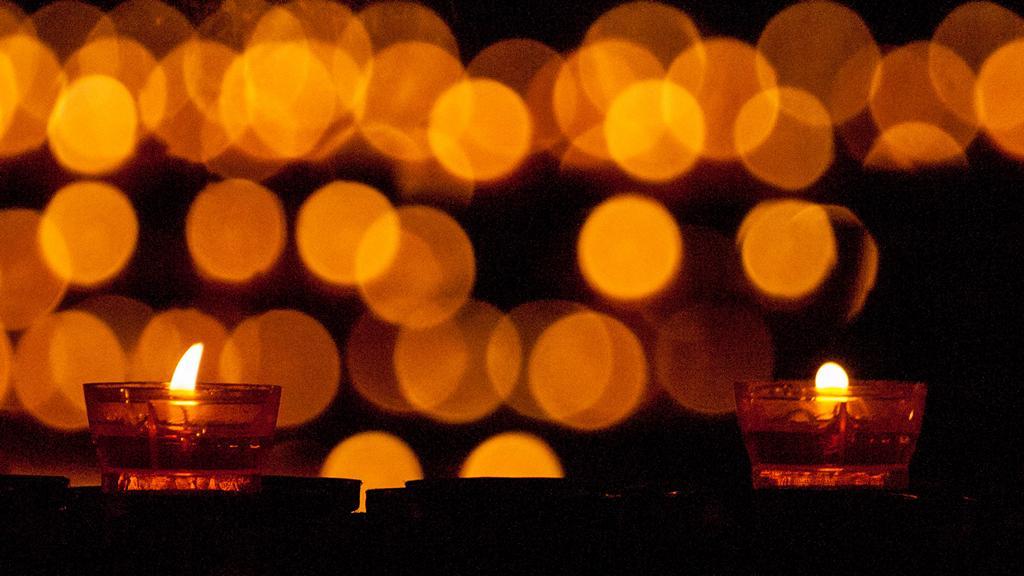 Cathedrale de Strasbourg au 300mm - Les bougies